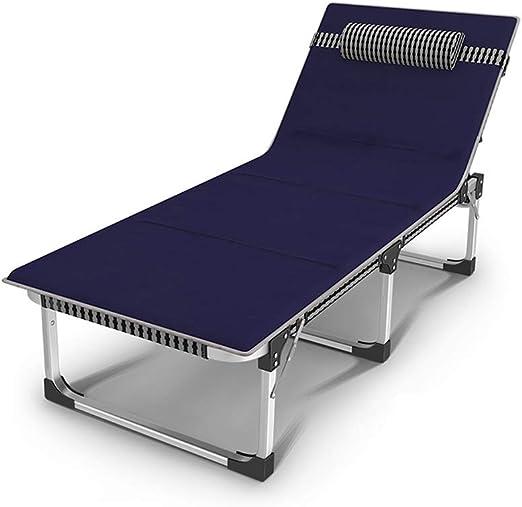 Cama Plegable, Cama Plegable Portátil de Aleación de Aluminio Adecuada for La Oficina En El Hogar for Adultos, Siesta, Balcón, Sillón sillón (Color : Style4): Amazon.es: Hogar