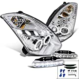 04 infiniti headlights - Infiniti G35 2Dr Halo Projector Headlights+LED Driving Fog Lamps