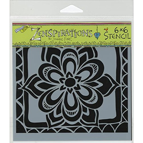Crafters Workshop Template, 6 by 6-Inch, Zen Flower