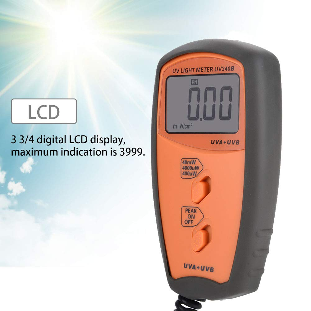 Acogedor UV Light Meter, UV340B Digital Portable Handheld UV Light Meter. UVA UVB Intensity Measure Tester by Acogedor (Image #3)