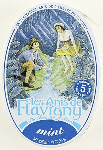 4 Pack Les Anis de Flavigny Mint Hard Candy 1.75-ounce (50g) Tin