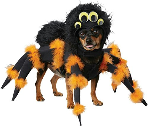 Pop Sensation Dog Costumes (Novel Black Scary Furry Spider Pup Dog Pet Costume Size XS)