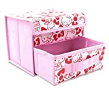 Finex Pink Hello Kitty Foldable Storage Organizer Box for Desk - with Removable Drawer