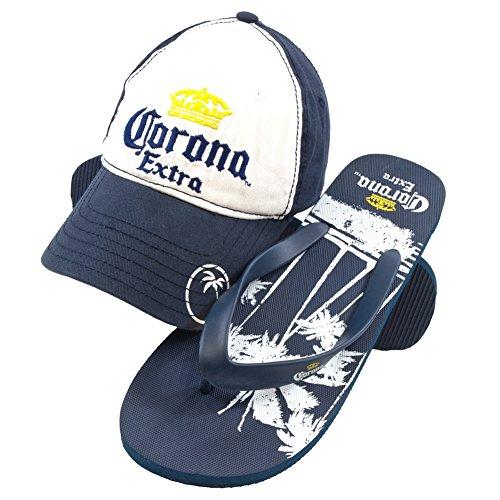 Corona - Krona Logo Justerbart Lock Och Palm Vippor Combo Set