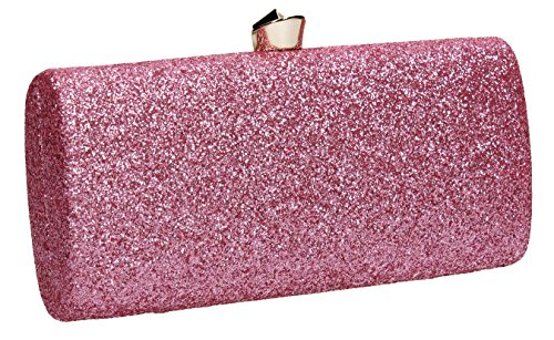 SWANKYSWANS Clutch Strap Gold Womens Metallic Wedding Glitter Pink Daisy Party Prom Bag AqgwrA