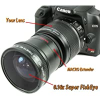 Bower 0.16x Super FishEye Lens with Macro for Canon EOS 18-55mm