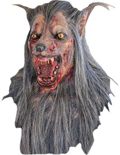 BROWN WOLF LATEX MASK -