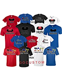 Mickey DAD Minnie Mom Disney FAMILY Vacation 2017 FRONT & BACK Matching Tshirts