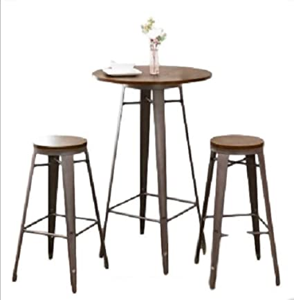 Peachy Amazon Com Ats 42 Bistro Table Set 3Pc Pub Bar Cafe Indoor Beutiful Home Inspiration Truamahrainfo