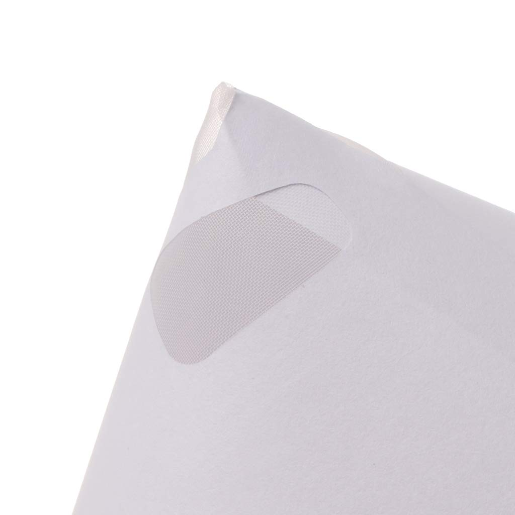 CADANIA 50Pieces Mesh konisches Nylon Mikron-Papier-Farbsiebfilter zum Reinigen des Siebbechers Trichter Einweg