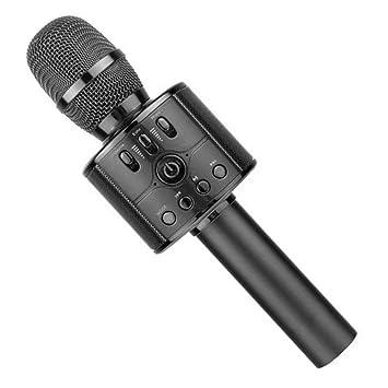 Amazon.com: Micrófono inalámbrico con Bluetooth para karaoke ...