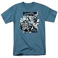 Trevco Men's Superman Short Sleeve T-Shirt, Center Slate, Medium