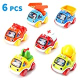 Amy&Benton Pull Back Cars Pull Back Vehicle for Baby &Toddler Toys for 1 Year Old Boy Birthday Gift for 2 3 Year