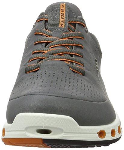Ecco Herren Refroidissent 2.0 Chaussures De Sport En Cuir Grau (ombre 1602dark)