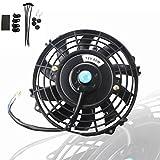 7 radiator fan - MOSTPLUS Black Universal Electric Radiator Slim Fan Push/Pull 12V + Mounting Kit (7 Inch)
