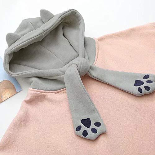 Revers Imprimer Vent Mille LUBITY Oiseaux Grande Rose Manteau Femme Chic Hiver Longues Vintage Coupe Tops Bat Mode Slim Veste Sleeve Automne Tatouage Manches Lache Taille Ow0wIq