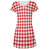Picnic Blanket Summer Ants All Over Juniors Cover-Up Beach Dress - Small