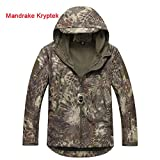 ATAirsoft(TM) Multi Colors Men's Outdoor Military Shark Skin Softshell Tactical Waterproof Jacket Camouflage (Mandrake Kryptek, S)