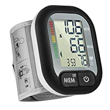 Digital Wrist Blood Pressure Monitor,Patec Abnormal Blood Pressure & Irregular Heartbeat Detector with Wide-Range Cuff,2 Memories Groups for 2 user,Accurate & Portable,For Home & Travel Use