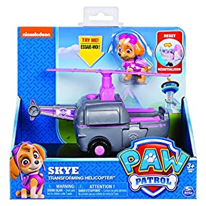 Paw Patrol, Skye's Transforming Helicopter with Flip-Open Turbines, for Ages 3 and Up