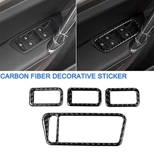 suitus88 Car Arbon Fiber Sticker Decorative for Volkswagen Golf 7 GTI R GTE GTD MK7 2013-2017 LHD Accessories