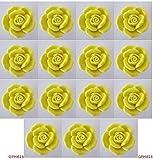 15 Yellow Ceramic Knobs Rose Kitchen Cabinet Drawer Pulls Furniture Dresser
