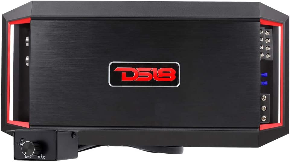 DS18 GEN-X1200.1 Car Audio Amplifier in Black - Class D, Monoblock, 1,200 Watts Max, Full Range, 1-4 Ohm