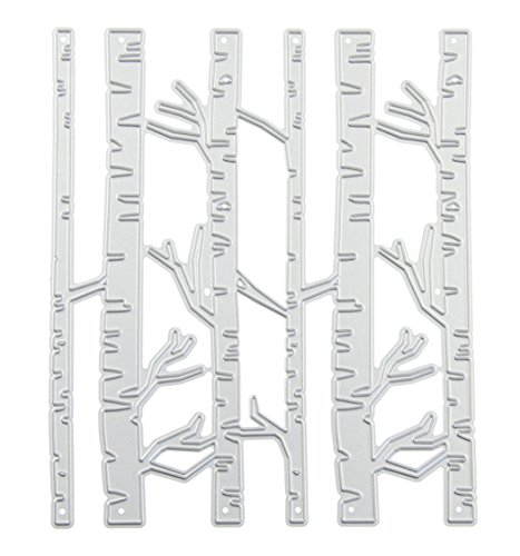 Embossing Metal Stencil (ZbFwmx Branches Forest Tree Metal Cutting Dies Stencil DIY Scrapbooking Embossing Tool DIY Paper Cards Album Decoration)