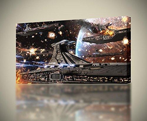 - Star Wars Republic Fleet Ships CANVAS PRINT Wall Decor Giclee Art Poster CA837, Regular