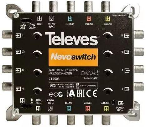 Televes Ms58c Multischalter Nevo Schwarz Baumarkt