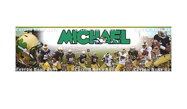Amazon.com: Personalized Notre Dame Fighting Irish Football ...