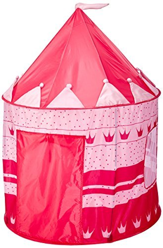Girl's Pink Princess Castle Play Tent with LED light & Glow in the dark stars - Indoor / Outdoor Kids Tent - Kids Lighted Playhouse - CPSIA Compliant [並行輸入品] B07BMZ6JNQ