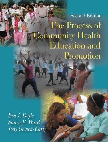 Process Of Community Health Education..