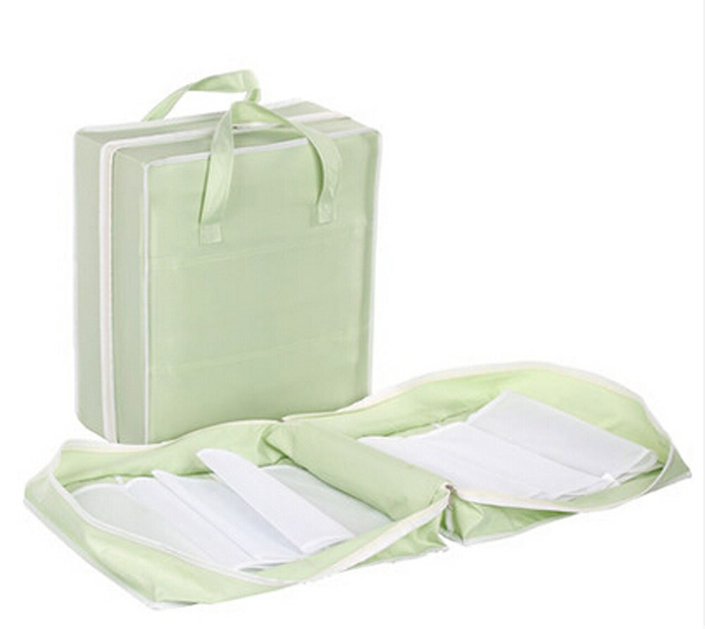 PANDA SUPERSTORE Portable Travel Shoe Bags Pouch Travel Shoe Tote Green Hold 3 Pairs Shoes