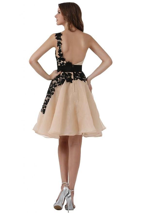 Sunvary Glamour Ein-Schulter Abendkleider Kurz Organza Ballkleider  Partykleider: Amazon.de: Bekleidung