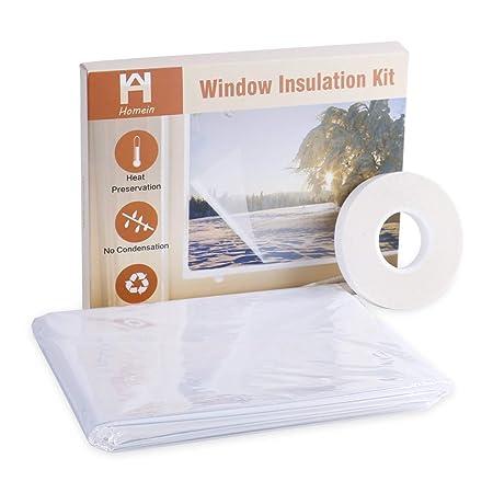 Homein Fensterisolierfolie Schrumpffolie Thermo Cover Selbstklebende Wärmedämmung Wärmeschutzfolie Thermofolie Sonnenschutzfo