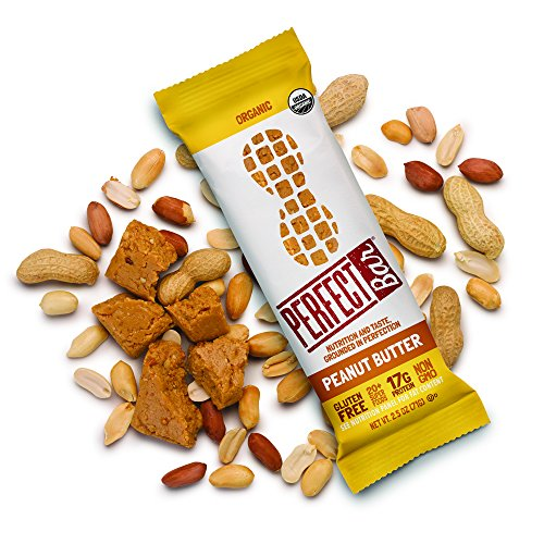 Perfect Bar - Peanut Butter Whole Food Protein Bar, 17g Protein, 20+ Superfoods, Organic, Non GMO, Gluten Free, Soy Free, Kosher, 2.5oz Bar, 24 - Ounce Bar 2.5