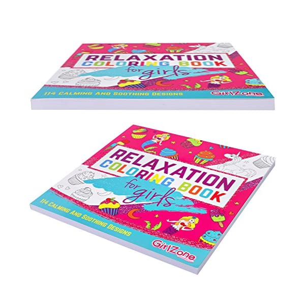 GirlZone: Arts and Crafts Unicorn Coloring Books for Girls of Ages 4 to 10 Years 7