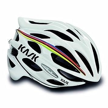 Kask Mojito – Casco de ciclismo (blanco con diseño de arco iris – L)