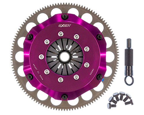 - EXEDY ZM012SBMC1 Carbon-R Clutch Kit Twin Carbon Rigid Disc 200mm Push Type 23 Tooth/26.4mm Spline Wheel Torque Rating 426 ft./lbs. 2427 lbs. Clamp Load Carbon-R Clutch Kit