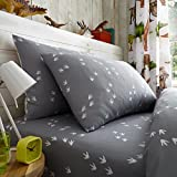 Gaveno Cavailia Dinosaur Kids Children Design Luxurious Duvet Cover Sets Reversible Bedding Sets with Pillowcases/Fitted Bed Sheets GC (Single Matching Fitted Sheet)