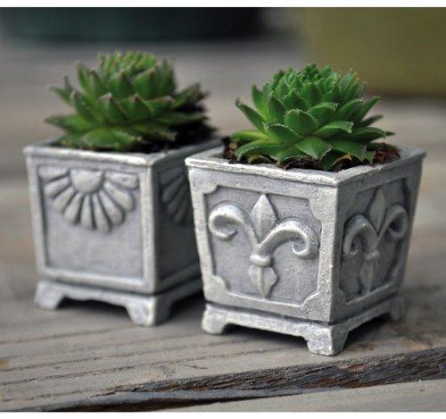 Miniature Fairy Garden Miniature Stone Urns, Set of 2