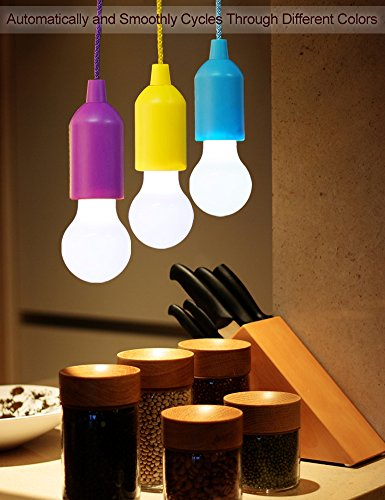 Bright Zeal Set Of 3 Pull Cord Led Light Bulbs In Real