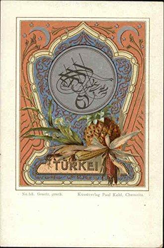 Turkish Coat of Arms Greece Turkey Balkan States Turkey Original Vintage Postcard
