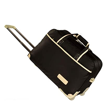 Suitcase Check-in Hold Luggage Travel Trolley Case Trolley Bag Lightweight Expandable Strong Luggage Cabin Bags Boarding Package Drag Hand Wheel Portable GAOFENG Color : Black, Size : 472530cm
