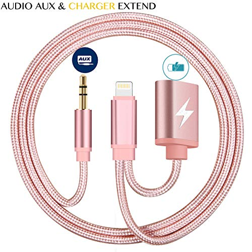 Buy pink iphone aux cable car