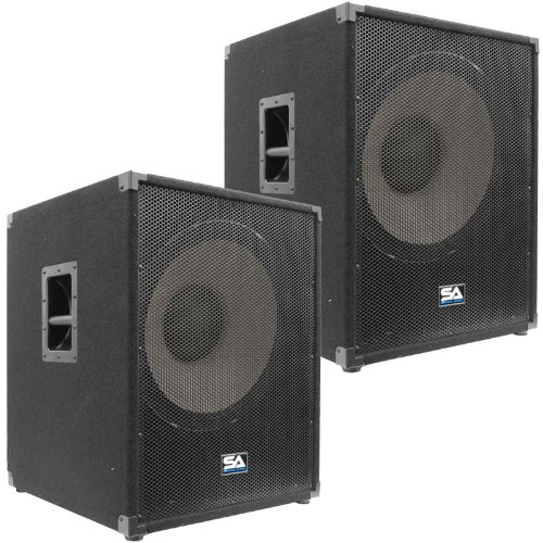 Seismic Audio - Enforcer II - Pair of PA 18'' Subwoofer Speaker Cabinet by Seismic Audio