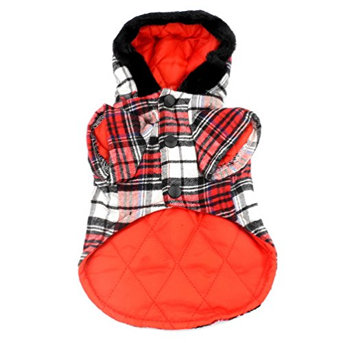 SELMAI Dog Duffle Coat Puppy Pet Hoodies Winter Clothes for Small Dogs Red L by SELMAI (Image #2)