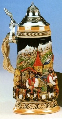 King-Werks Bavarian Brass Band German Beer Stein