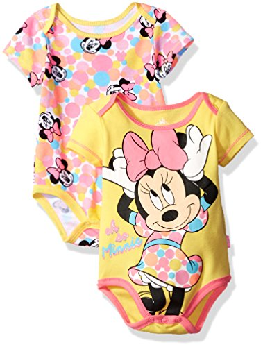 Disney Baby Girls' Minnie Mouse 2 Pack Bodysuit